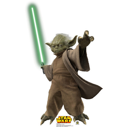 Advanced Graphics Star Wars Yoda with Lightsaber Cardboard Stand-Up