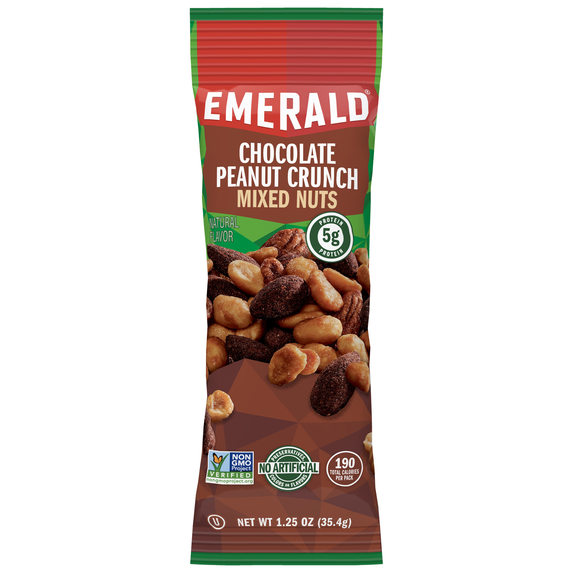 Emerald Nuts, Chocolate Peanut Butter Mixed Nuts, Single-Serve 1.25 Oz, 12 Ct