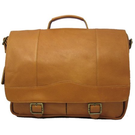 Porthole Leather Briefcase w Inside Organizer