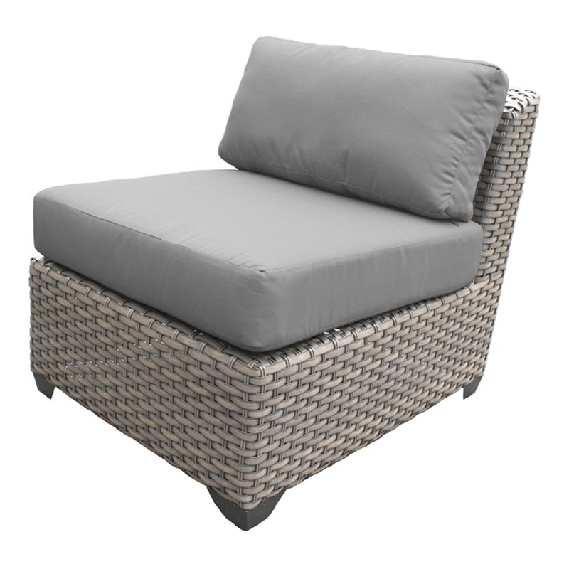 Bowery Hill Armless Patio Chair in Gray