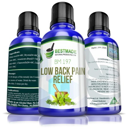Low Back Pain Natural Remedy BM197 a Powerful Supplement to Relieve Muscle Soreness & Tightness Good for Chronic Pain and Occasional Discomfort Suitable Treatment for Related Nerve, Leg and Knee (Best Way To Relieve Sciatic Nerve Pain)