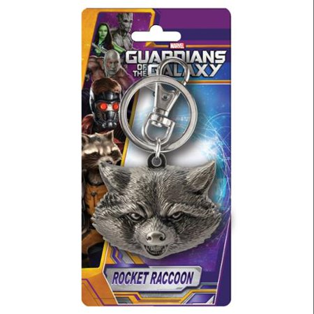 Marvel Pewter Key Ring: Rocket Raccoon - Pewter Guardian Angel Key Ring