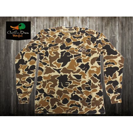 DRAKE WATERFOWL LONG SLEEVE LAYERING TEE OLD SCHOOL CAMO Walmart Cool Old School Camo Pattern