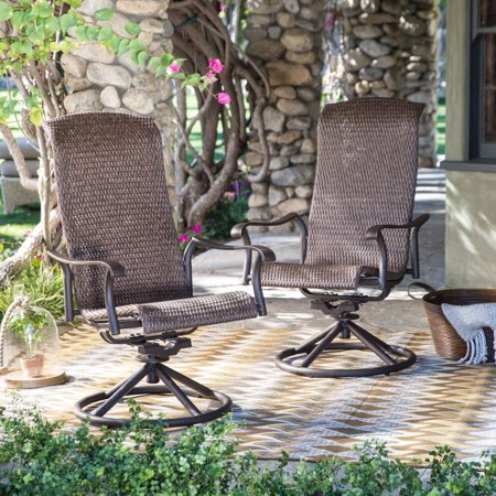 Belham Living Charter All-Weather Wicker Swivel Rocker - Set of