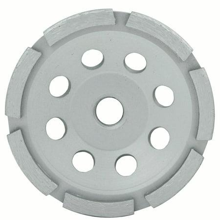 Single Row Cup Wheel (Lackmond 4.5-Inch Single Row Segmented Diamond Grinding Cup Wheel with 5/8-11 Nut )