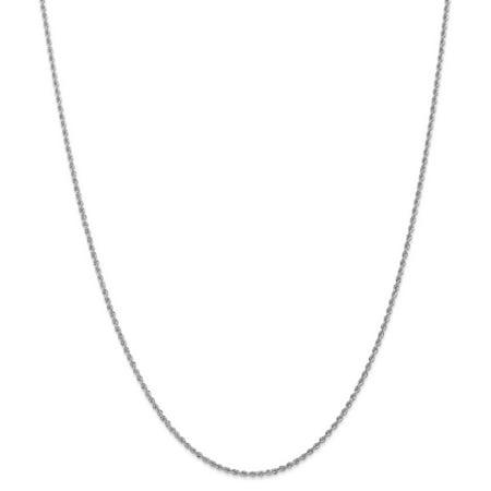 14k White Gold Handmade Regular Rope Chain 18inch Handmade Regular Rope Chain