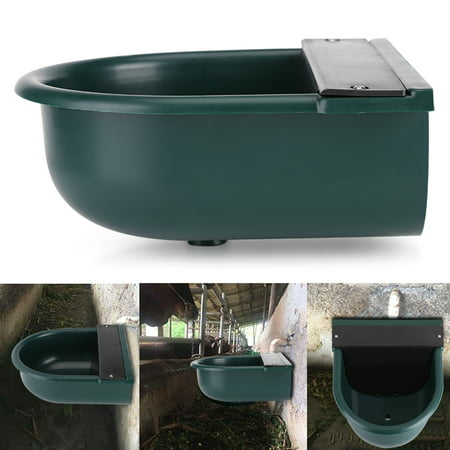 Anauto Water Bowl, Automatic Water Trough,Automatic Float Valve Water Trough Livestock Drinking Bowl for Cat Sheep Dog ()