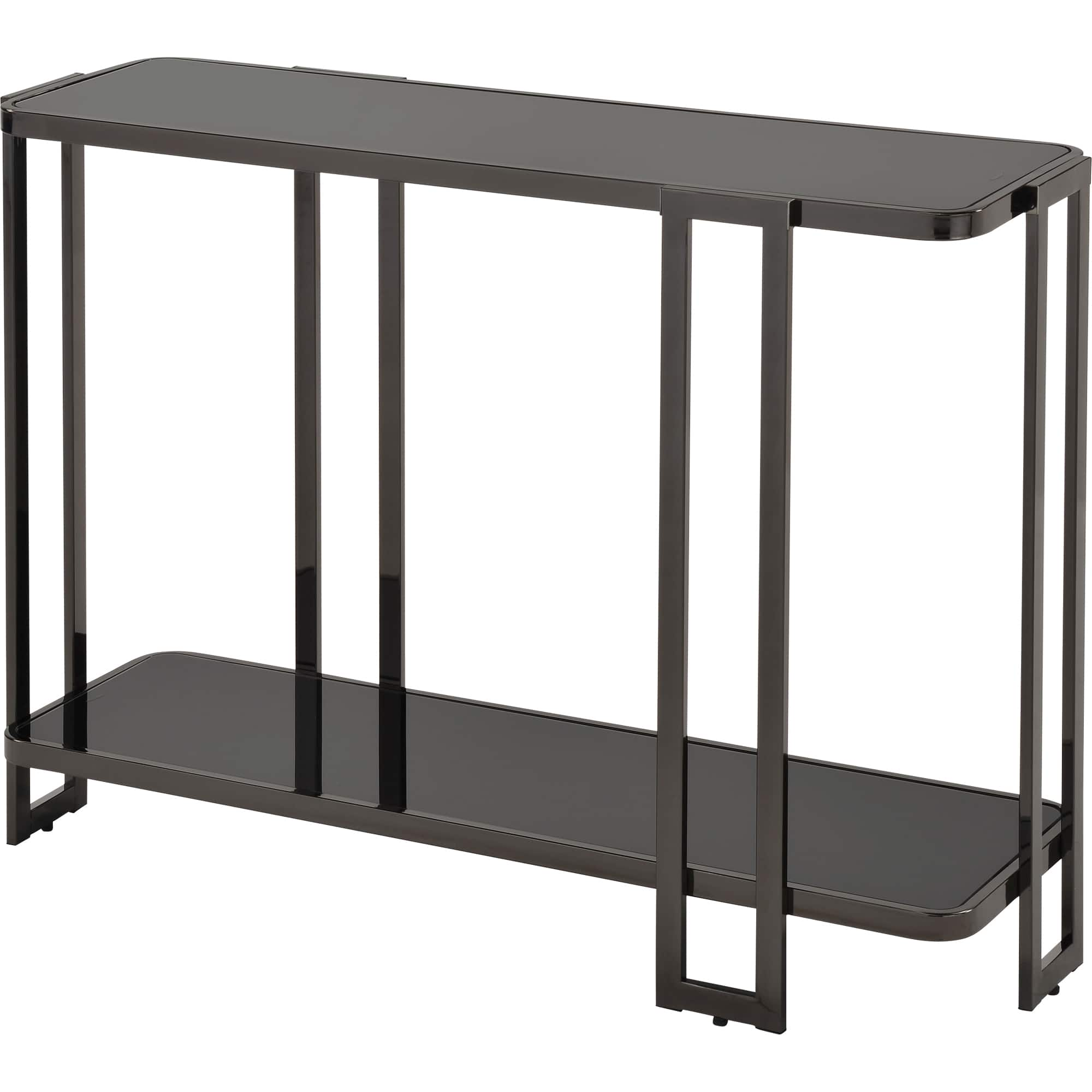 !nspire Glass Top Console Table