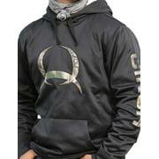 Cinch Western Sweatshirt Mens Poly Tech Hood Pocket Black MMK5006005