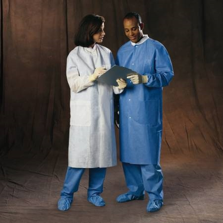 Lab Coat Blue Large Long - Item Number 10033CS - X-Large - 25 Each / Case