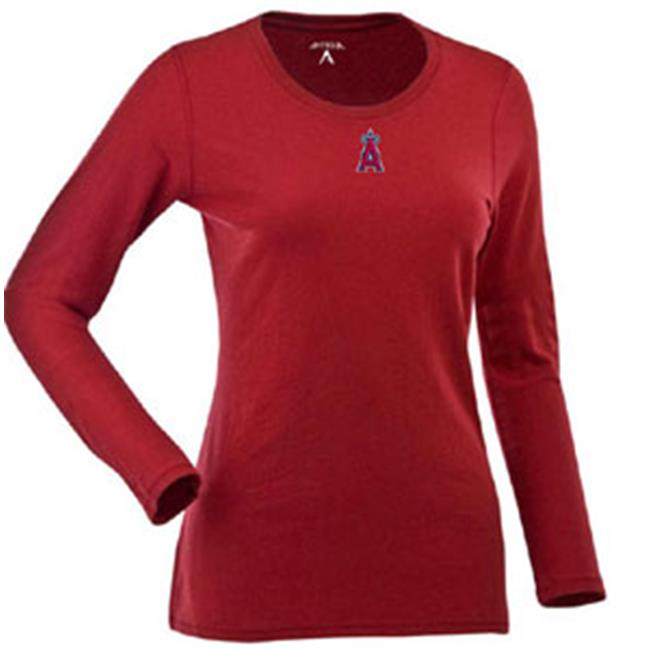 Antigua AN-707665683073 Los Angeles Angels Womens Relax Long Sleeve Tee in Team Color - X-Large