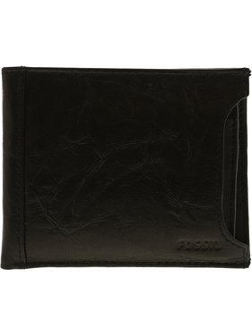 Fossil Men's Neel Sliding 2 In 1 Leather Wallet - Black