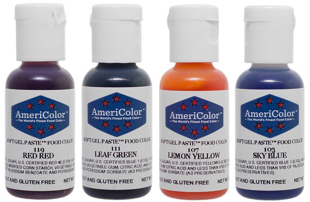 4-Color Soft Gel Paste Food Color Kit By AmeriColor - Walmart.com