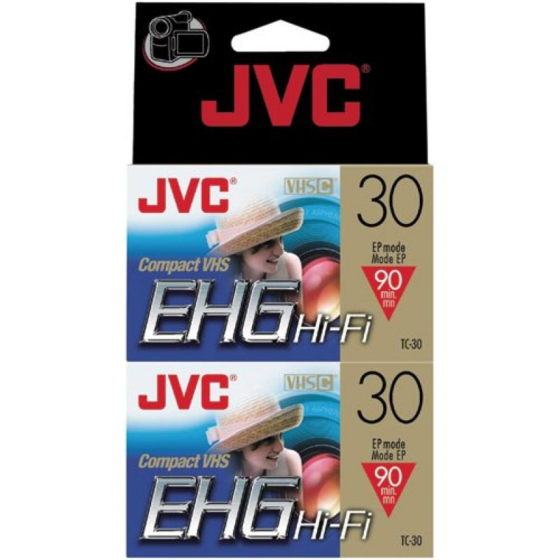 JVC Tc30Ehgdu2 30-Minute Vhs-C Video Tape (2-Pk) (Discontinued by Manufacturer)