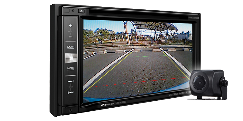 """Pioneer AVIC-6201NEX In-Dash Navigation AV Receiver with 6.2"""" WVGA Touchscreen Display Included BC-ND8 Back Up... by Pioneer"""