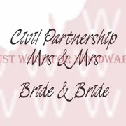 """Woodware Clear Stamps 2.5""""X1.75""""-Civil Partnership Mrs & Mrs"""