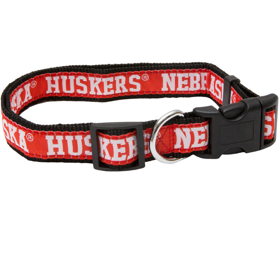 Pets First College Nebraska Huskers Pet Collar, 3 Sizes Available, Sports Fan Dog Collar