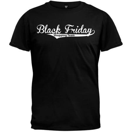 Black Friday Shopping Team Black T-Shirt - Small