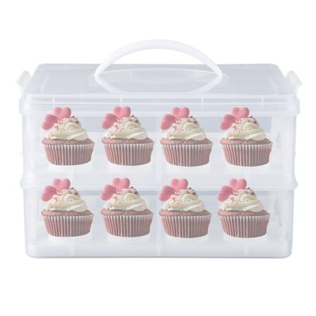 cnmodle Cupcake Carrier Mini Cake Box Cup Cake Holder Storage Container Carrying Case