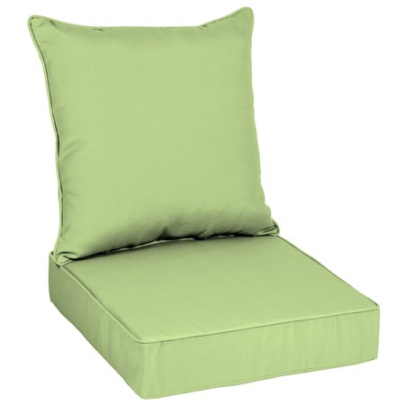 Better Homes & Gardens Mint Sage 48 x 24 in. Outdoor Deep Seat Cushion Set with EnviroGuard Deep Seating Set Canvas