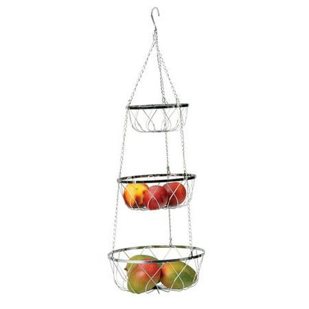 RSVP-INTL Hanging 3 Tier Fancy Baskets