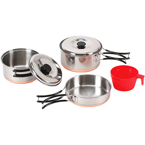 Stansport Stainless-Steel 6-Piece Cookware Kit