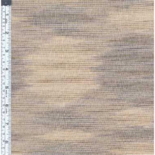 Textile Creations WR-011 Winding Ridge Fabric, Taupe And Natural Ikat With Slub, 15 yd.