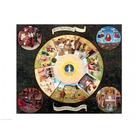Tabletop of The Seven Deadly Sins & The Four Last Things Poster Print by Hieronymus Bosch - 24 x 18 in. - image 1 de 1