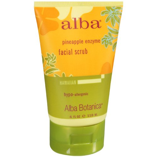 Alba Hawaiian Facial Scrub, Pineapple Enzyme, 4 fl oz