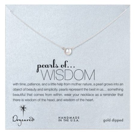 Dogeared Best Mom Necklace - Dogeared Pearls of Wisdom White Pearl Sterling Silver Necklace - PS1021