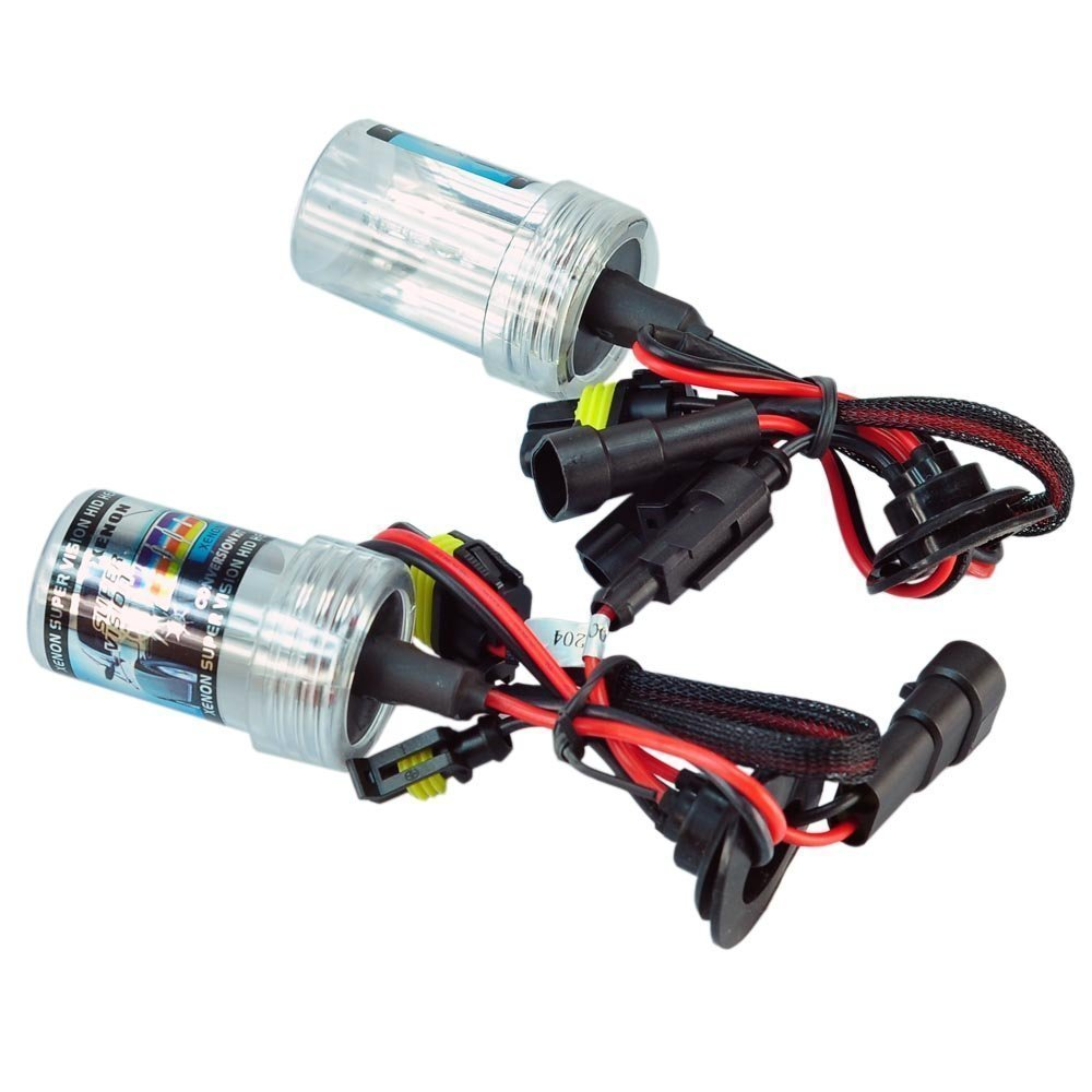 SwitchCarParts 9006 6000K HID Xenon Replacement Light Bulbs - 1 Pair