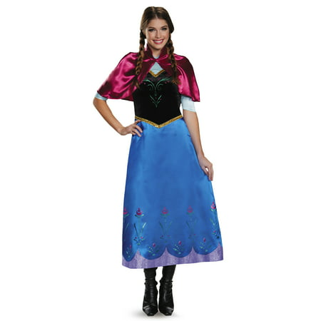 Frozen Womens' Traveling Anna Deluxe Adult Costume - Anna Maria Halloween