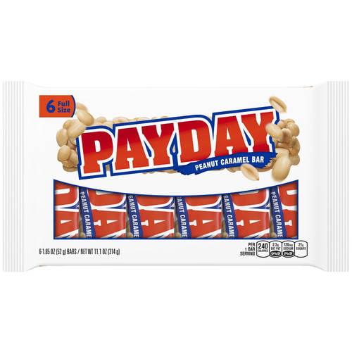 Payday Peanut Caramel Candy, 6 Ct