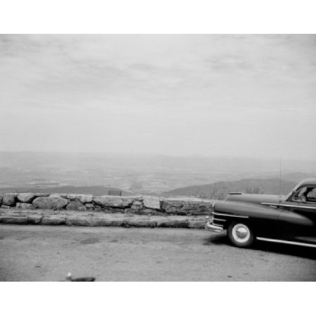 Usa Virginia Shenandoah National Park Car On Mountain Road Canvas Art     24 X 36