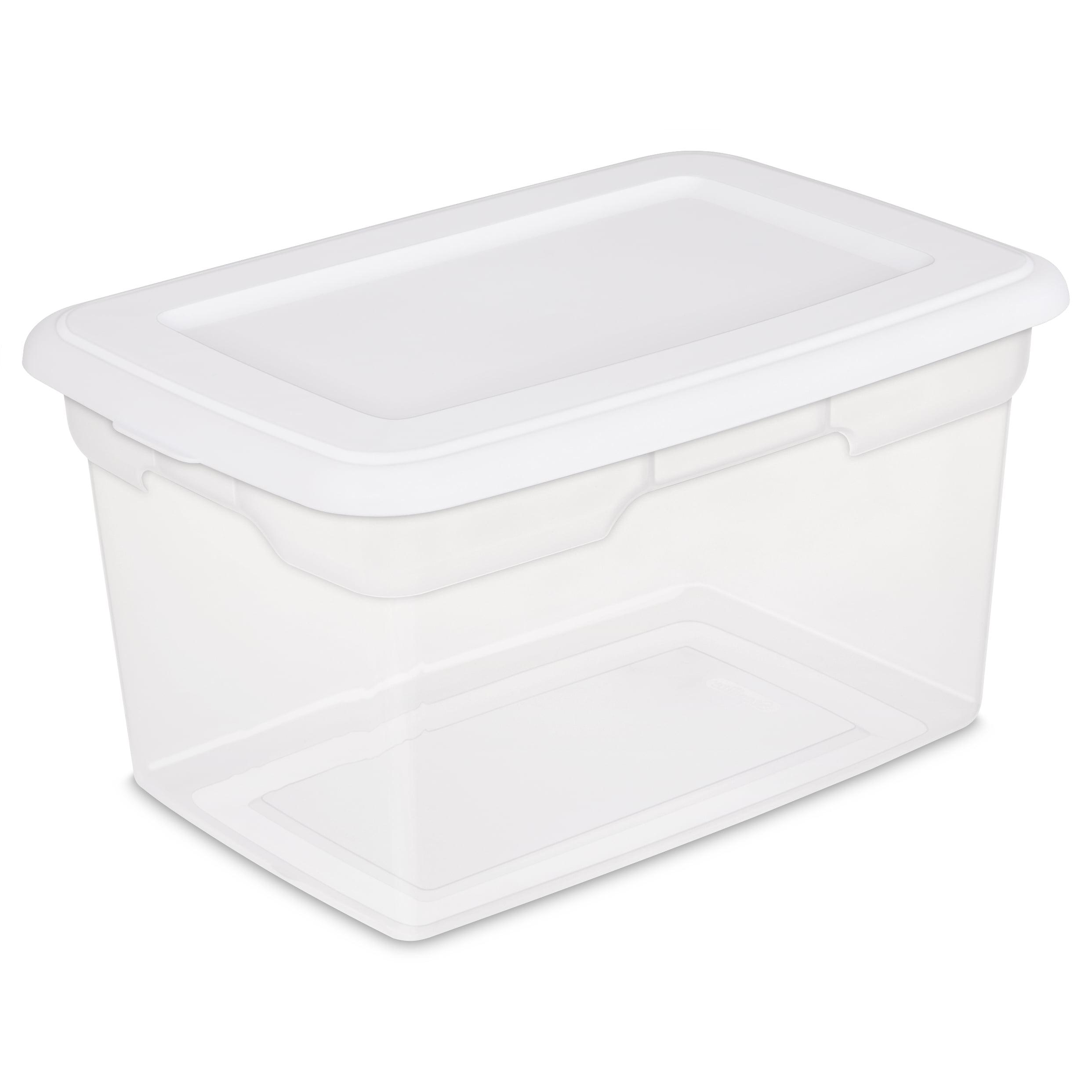 Sterilite 20 Qt./18.9 L Storage Box, White