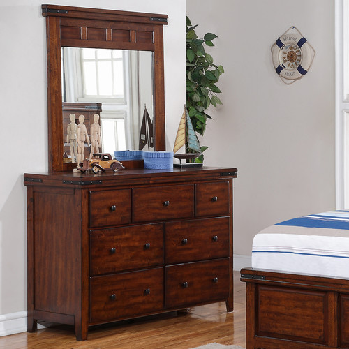 Winners Only, Inc. 7 Drawer Double Dresser with Mirror