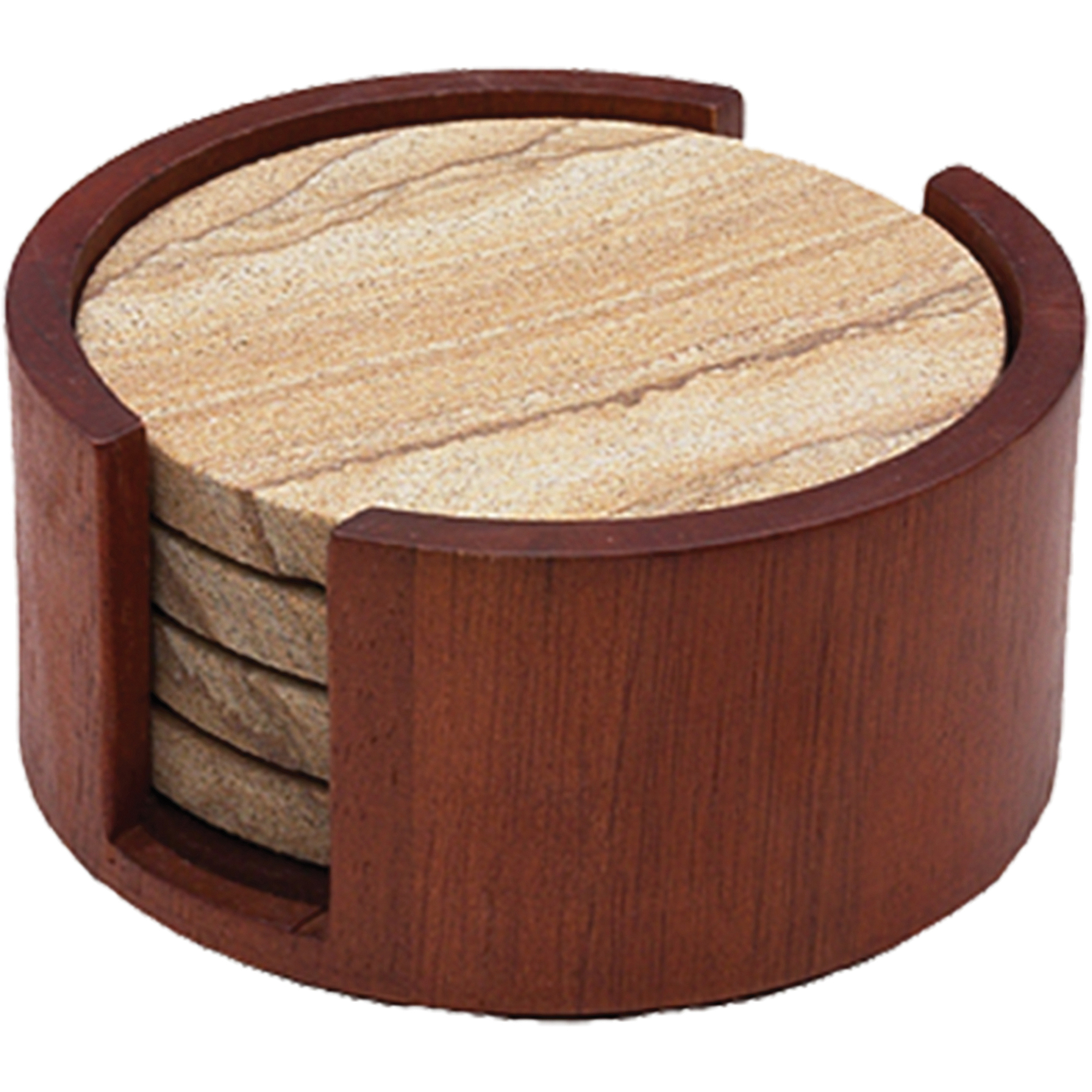 Thirstystone Circular Drink Coaster Holder, Cherry