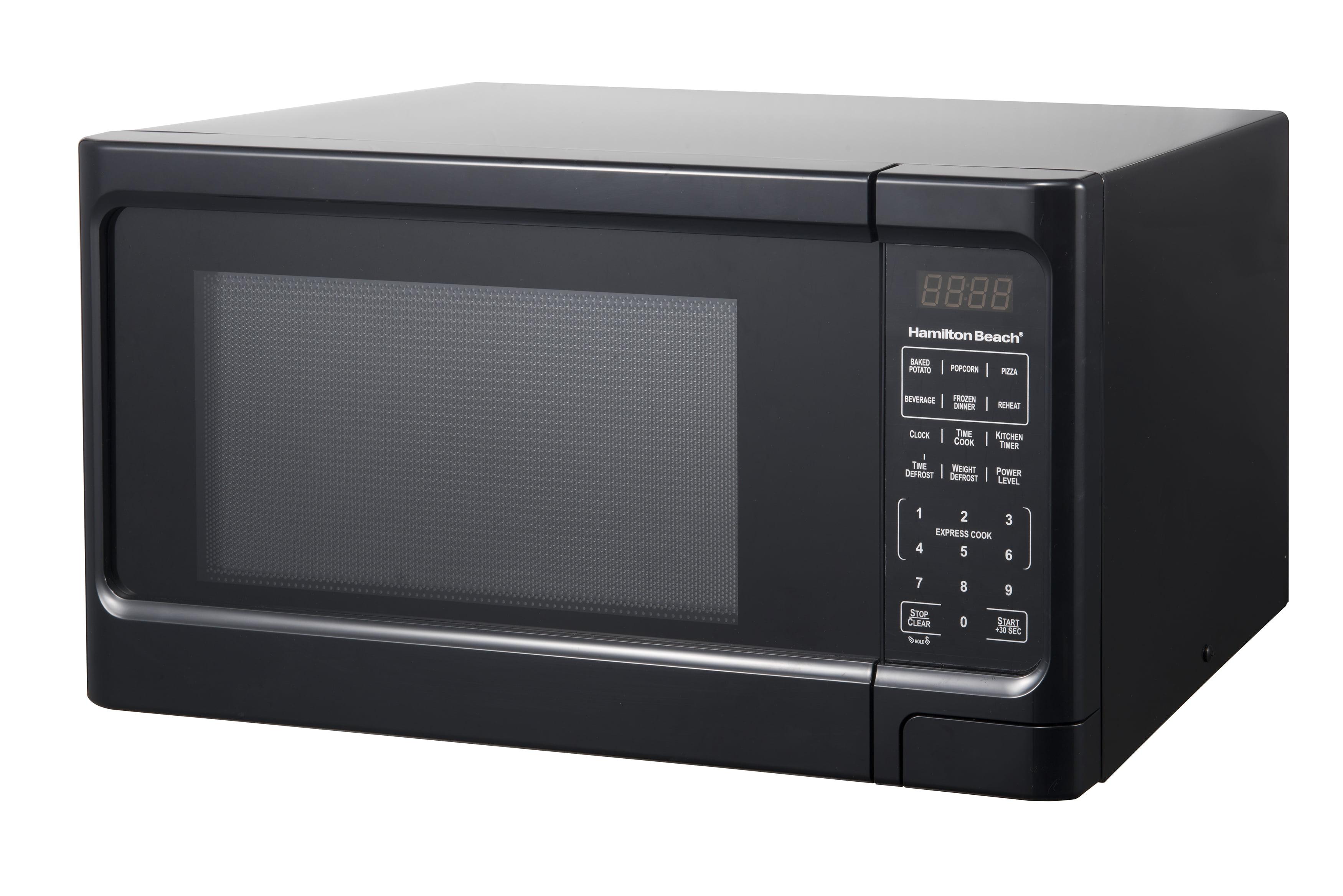 Hamilton Beach 1.1 Cu. Ft. Black Digital Microwave Oven - Walmart.com -  Walmart.com