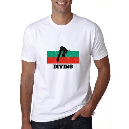 Bulgaria Olympic - Diving - Flag - Silhouette Men's (Dive Flag T-shirt)