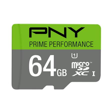 PNY 64GB Prime microSD Memory Card (64gb Memory Chip)