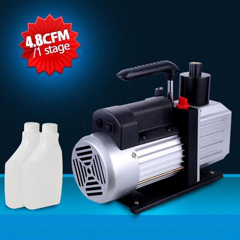 eWarehouseDirect New R410a R134 1 Stage Rotary Vane 4.8CFM 1/3HP Deep Vacuum Pump HVAC AC Air Tools