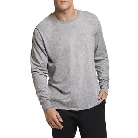 Russell Athletic Men's and Big Men's Essential Dri-Power Long Sleeve T-Shirt with 30+ UPF Dri Fit Mock Neck Shirt