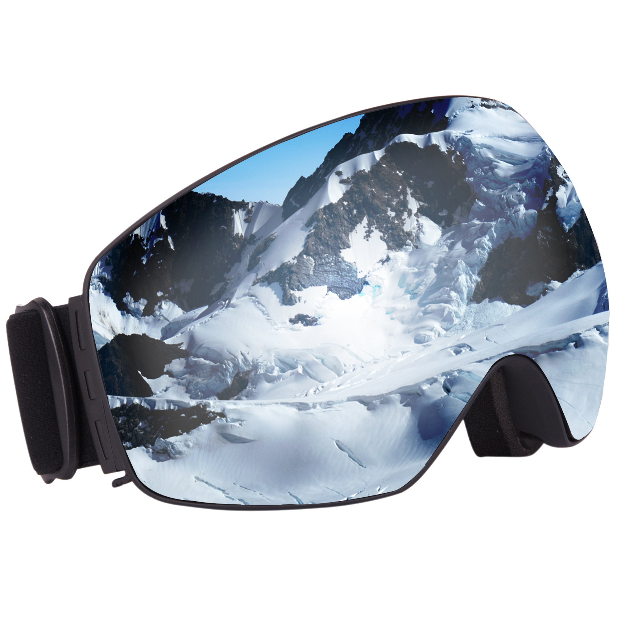 Black Outdoor Windproof Ski Snow Glasses Climbing Goggles for Kids Children