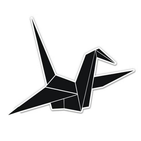 Origami Crane - Vinyl Sticker Waterproof Decal Sticker 5