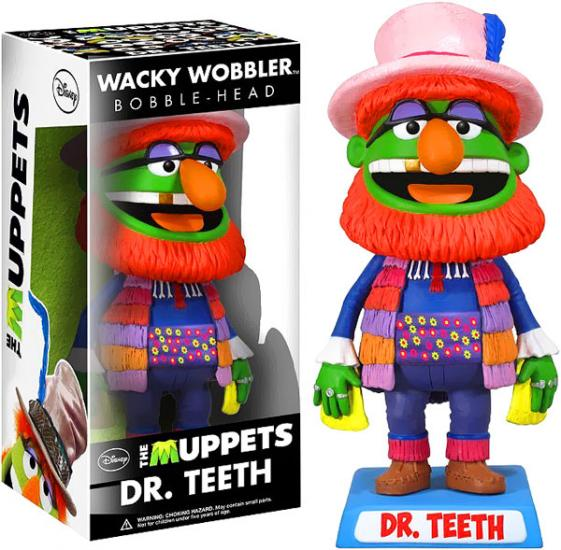 FUNKO INC. The Muppets Wacky Wobbler Dr. Teeth Bobble Head