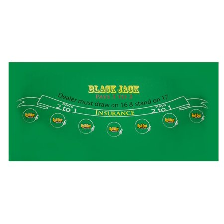 Quality Blackjack Table (Rollout Gaming Blackjack Table Top )