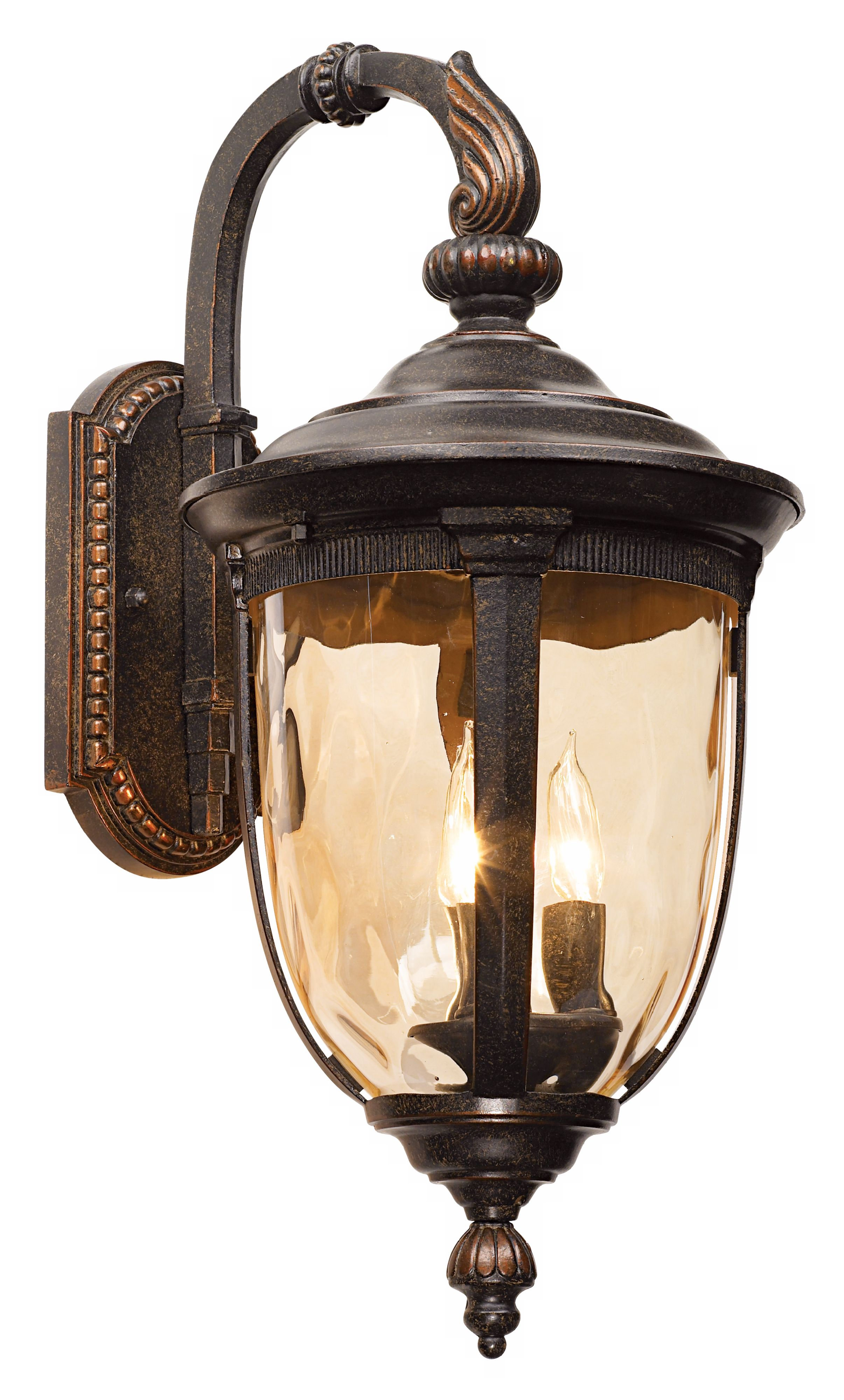 John timberland vintage outdoor wall light fixture bronze metal 20 1 2 champagne hammered glass for exterior house porch patio walmart com