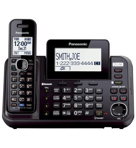 Panasonic Kx-tg9541b Dect 6.0 1.90 Ghz Cordless Phone Black Cordless 2 X Phone Line Speaker Phone Answering... by Panasonic