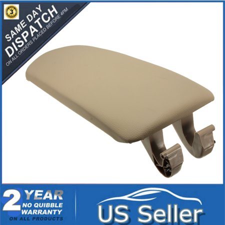 Beige PU Leather Center Console Armrest Box Cover Lid For Audi A4 B7 A4L 2004 2005 2006 2007 2008