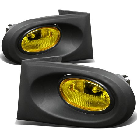 For 2002 to 2004 Acura RSX Front Bumper Driving Fog Light+Bulbs+Switch Amber Lens 03 Left+Right (2004 Rsx Fog Lights)